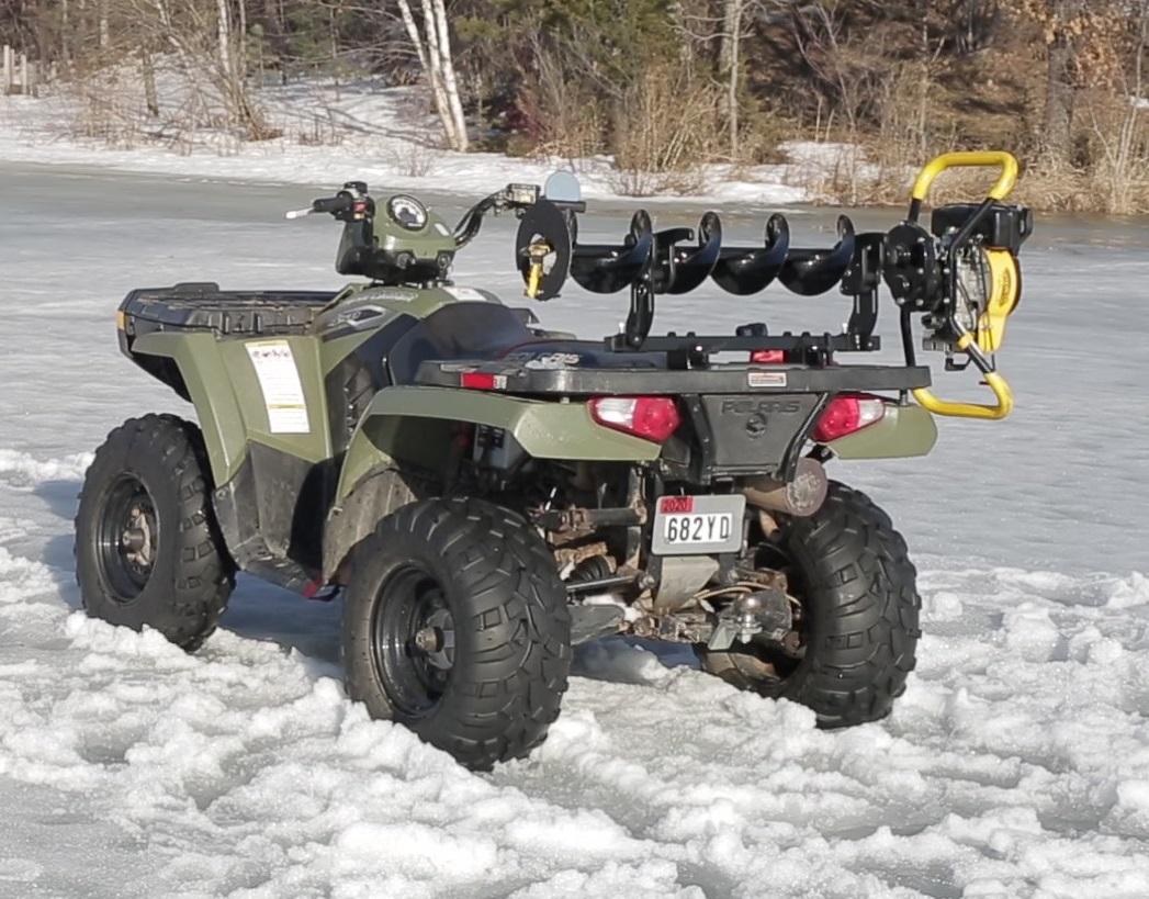 Jaws Of Ice Compsite Rack On Polaris ATV