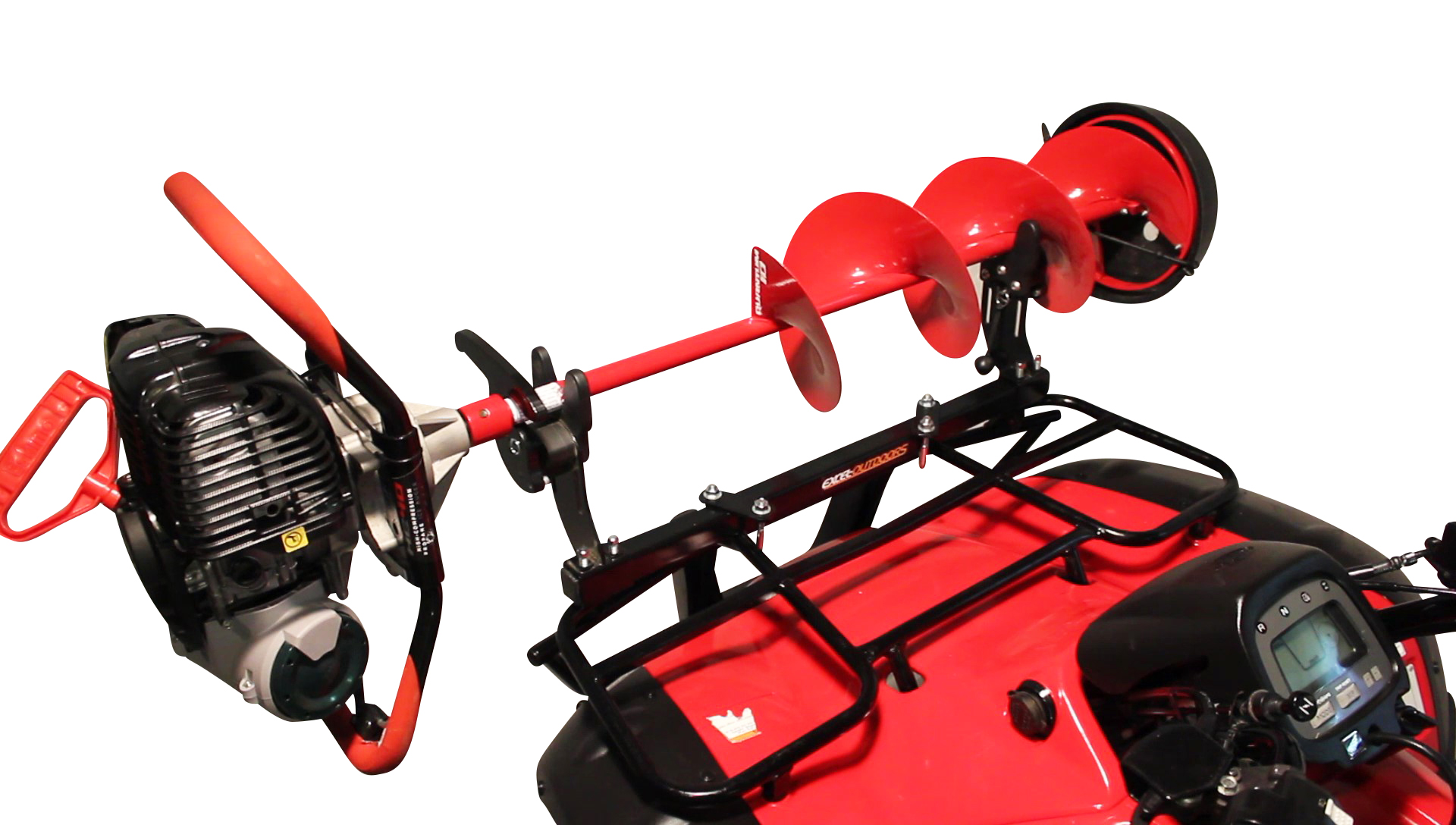 Jaws Of Ice Metal Rack Mounted On Front Of ATV