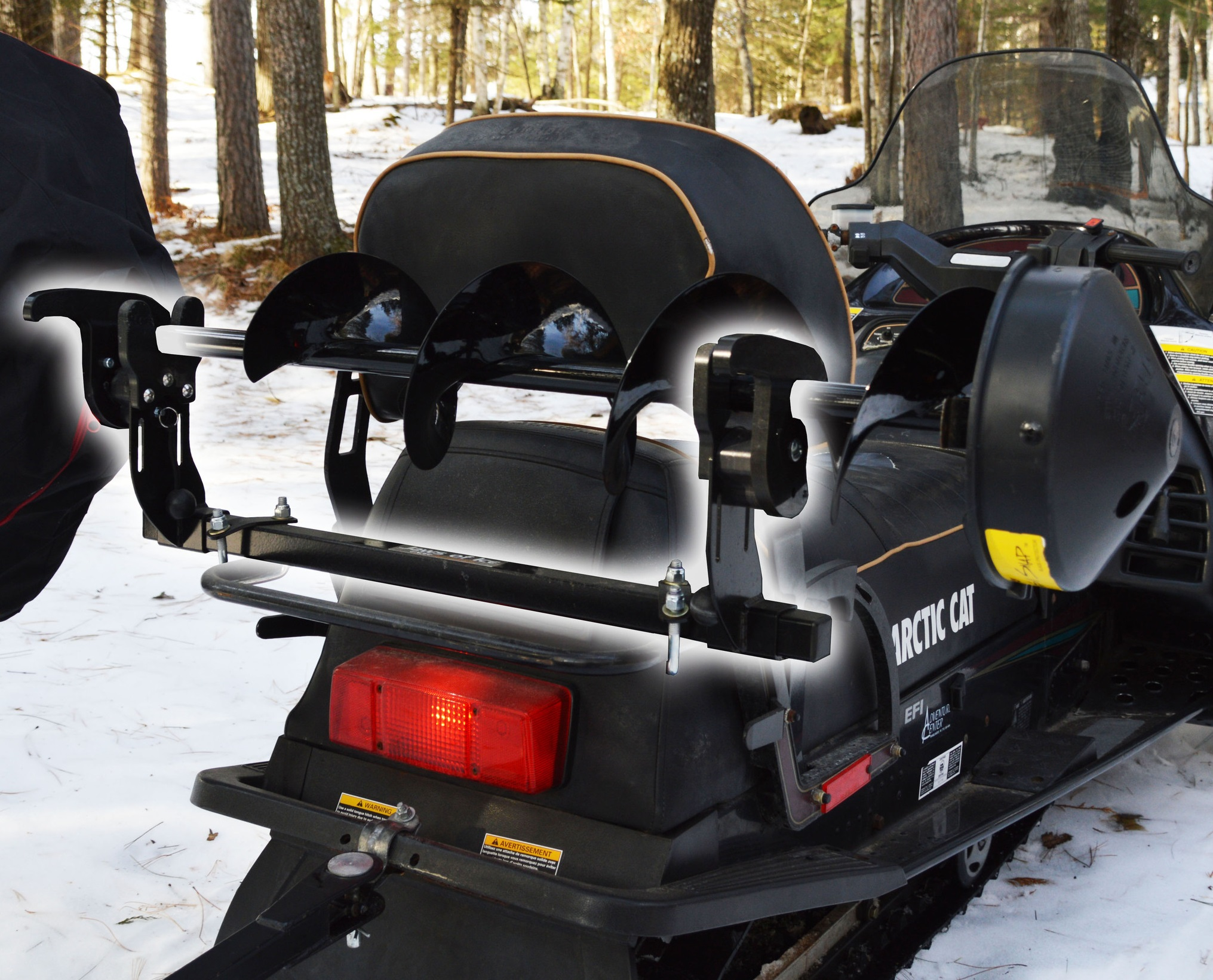 Jaws Of Ice Mounted On Snowmobile